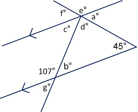 angles between parallel lines worksheet geometry angles in triangles and on parallel lines worksheet from times tutorials