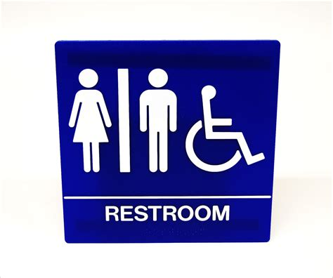 ada bathroom sign unisex restroom ada wall sign 8 quot wheelchair accessible tap plastics