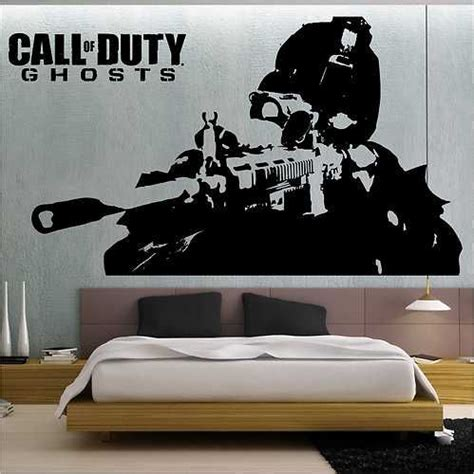 call  duty ghosts wall stickers wall transfer vinyl wall art decal  ebay ghosts