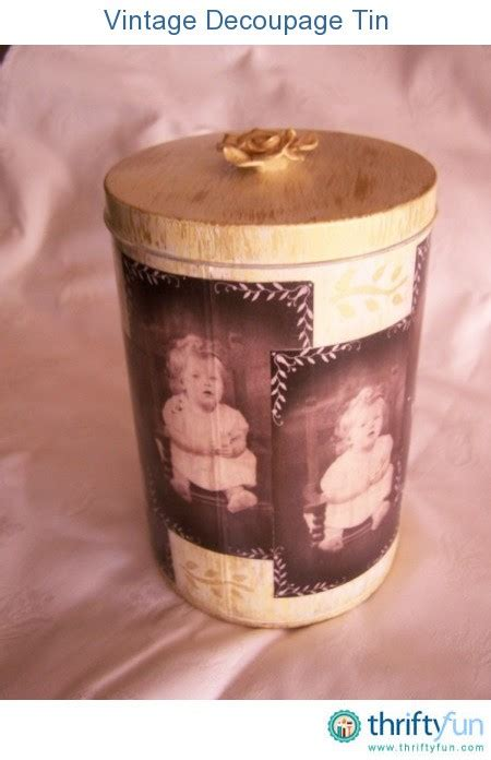 Decoupage Tin - vintage decoupage tin thriftyfun