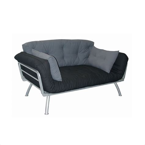 Metal Framed Futon by Elite Products Mali Convertible W Pewter Metal Frame