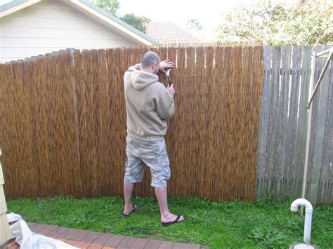 Backyard Fences Pictures Install Bamboo Fence Roll Peiranos Fences Perfect
