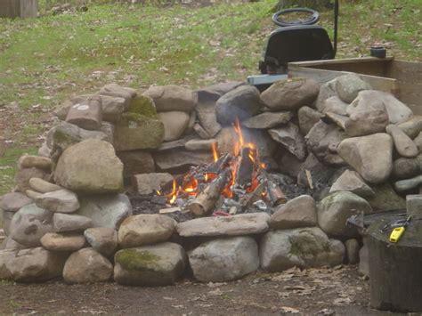 Creek Rock Fire Pit Fireplace Design Ideas Rocks For Firepit