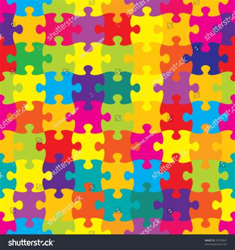 svg puzzle pattern vector seamless brightly colored puzzle pattern stock