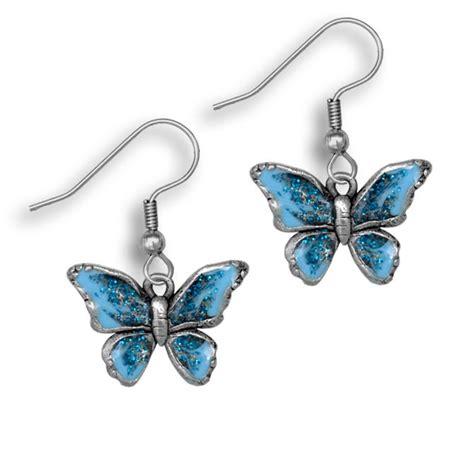 Butterfly Earring enamel blue butterfly earrings enamel earrings