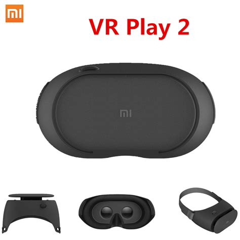 Diskon Xiaomi Vr 2 3d Glass Kacamata Vr Headset Remote newest original xiaomi mi vr play 2 reality glasses 3d glasses immersive for 4 7 5 7