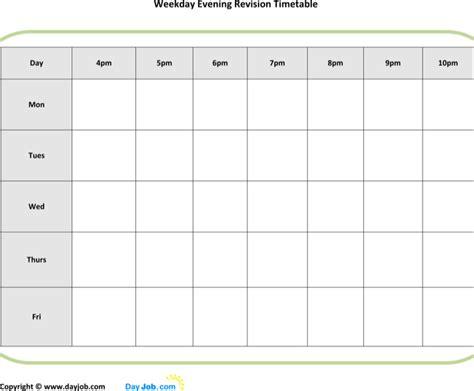 printable revision calendar timetable templates download free premium templates