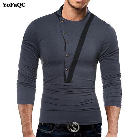 new year shirt 2018 yofaqc 2018 new fashion design tees mens chest button