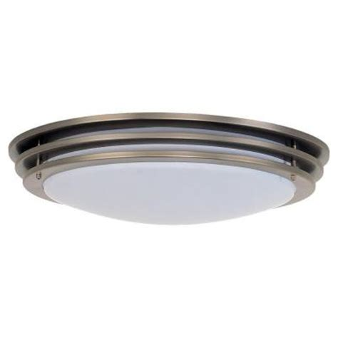 sea gull lighting nexus 2 light brushed nickel fluorescent