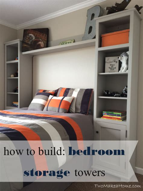 diy bedroom storage how to build a bedroom storage tower system two make a home