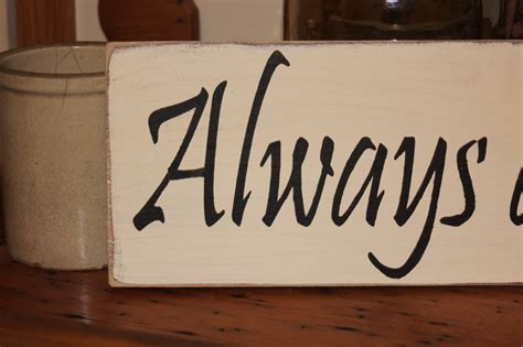 always and forever wood sign anniversary wedding