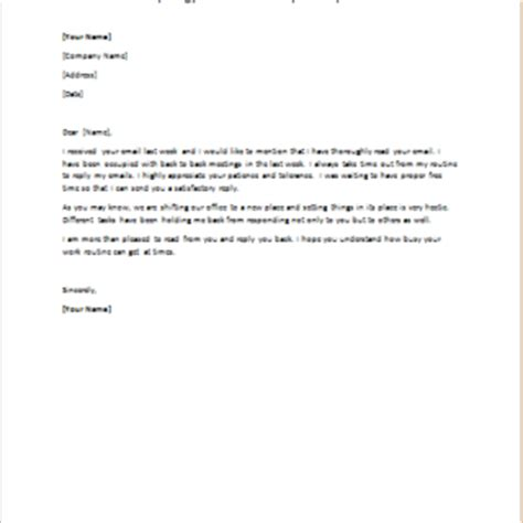 Apology Letter To For Late Reply Delayed Or No Response Apology Letter Writeletter2
