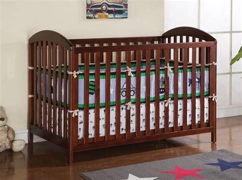 Cherry Oak Crib by Sachi Cherry Finish Solid Wood Baby Crib