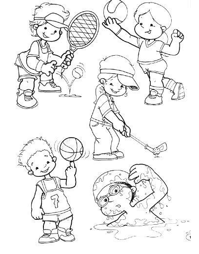 Imagenes Niños Haciendo Deporte Para Colorear | dibujos de deportes para imprimir y colorear escuela en