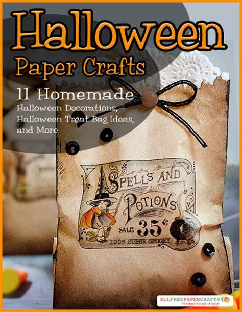 printable halloween bag decorations paper crafts homemade halloween decorations halloween