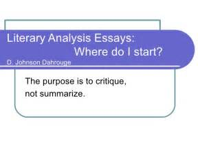 Writing A Literary Analysis Essay how to write a conclusion for a literary analysis essay how to write a literary analysis