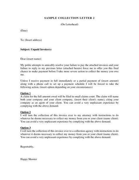 debt collector letter template sle debt collection letter by attorney debt