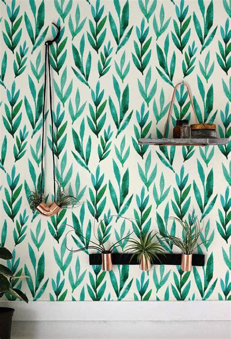 self adhesive removable wallpaper green watercolor leaves removable wallpaper self adhesive