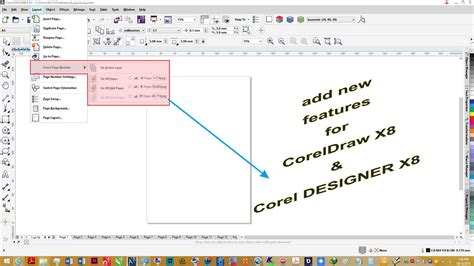 corel draw x7 tools pdf insert page number development tool coreldraw graphics