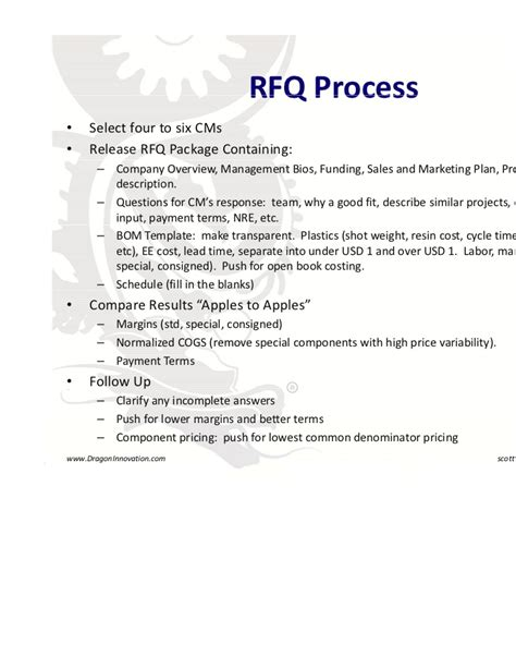 Manufacturing In China Dragon Innovation Rfq Template Manufacturing