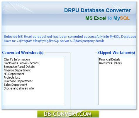 Convert Excel Spreadsheet To Database by Database Converter Software Freeware To Convert Ms Excel Spreadsheet To Mysql Db