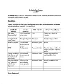 project monitoring plan template 8 project evaluation templates free sle exle