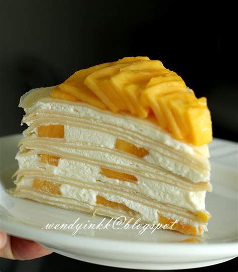 Mille Crepes Cake table for 2 or more mango mille crepe cake