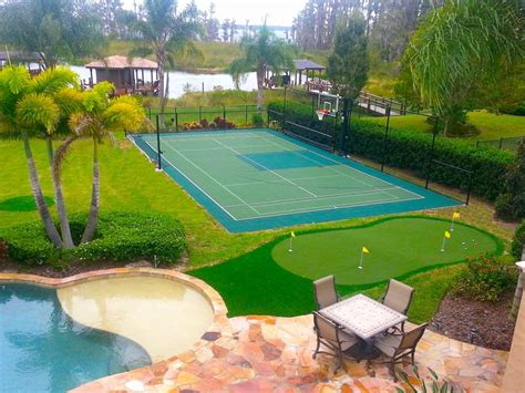 backyard pool and basketball court backyard basketball court putting green oh boy my