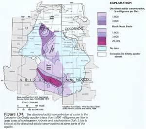 arizona water table map ha 730 c colorado plateaus aquifers coconino de chelly
