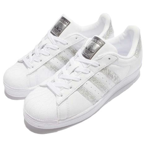 adidas originals superstar w glitter silver white shoes sneakers s76923 ebay