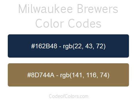 brewers colors 1000 images about mlb team colors on