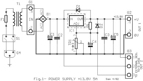 lm338 12v power supply circuit