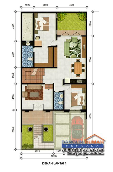 layout rumah yang baik desain rumah klasik 3 lantai ukuran 10 x 21 m2 desain