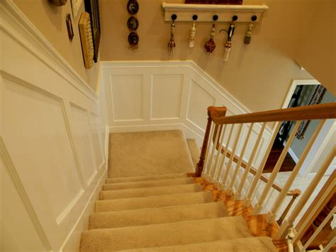 Decorating With Wainscoting by Forever Decorating Stairwell Wainscoting