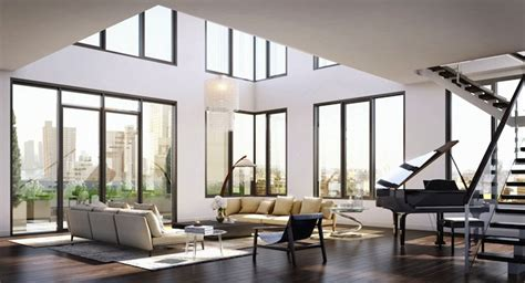 Contemporary Open Floor House Plans she s a brick house franklin place in tribeca launches sales