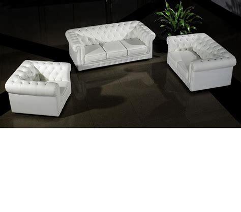 3 white leather sofa set dreamfurniture 3 modern white leather sofa set