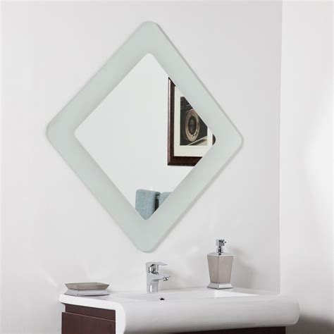 Shop Decor Wonderland Bella 27 6 In X 27 6 In Frosted Square Bathroom Mirror