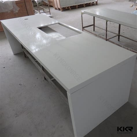 Solid Surface Countertop Materials by Precut Quartz Countertops Epoxy Resin Kitchen Countertop