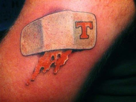 tennessee tattoo we bleed orange tennessee vols