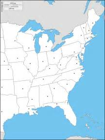 east coast of the united states free map free blank map