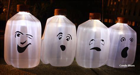 kids halloween craft cute ghost milk jug easy condo blues make solar milk jug ghosts for halloween