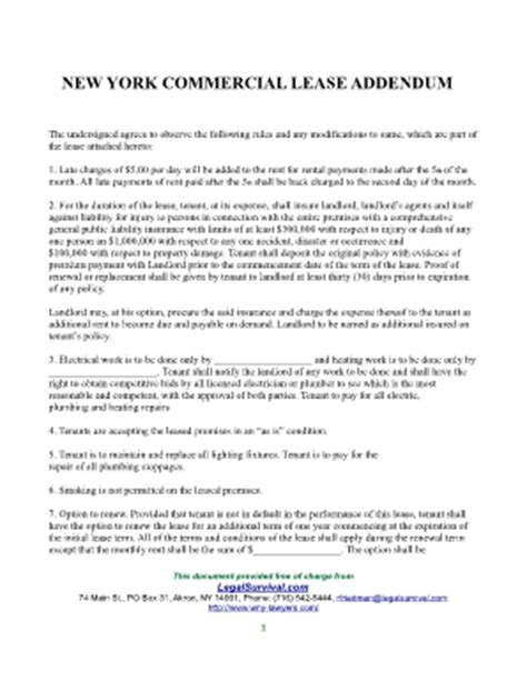 Nys Tax Warrant Search Commercial Sublease Agreement Addendum Nyc Fill Printable Fillable Blank