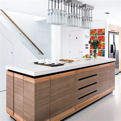 kitchen island units uk mixed materials island unit designer kitchen units housetohome co uk