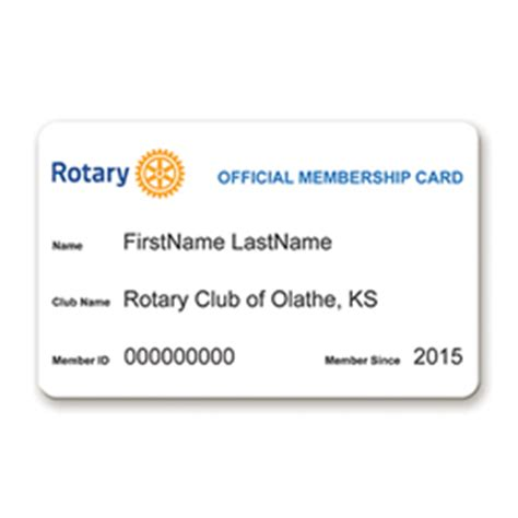 Rotary Membership Card Template by Rotary Membership Card Rotary Club Supplies
