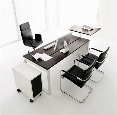 Modern Desk For Home Office Black Office Desk Furniture Interiordecodir
