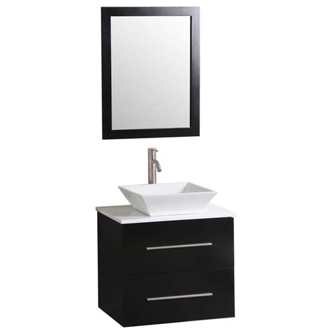 sheffield home berto 24 in vanity in wenge with