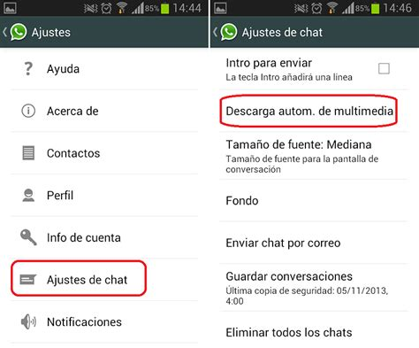 no guardar imagenes whatsapp android c 243 mo desactivar la descarga autom 225 tica de fotos y v 237 deos