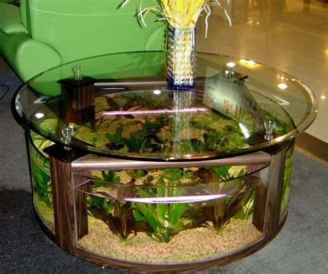 Table Aquarium Design by Circle Table Aquarium Design Image Photos Pictures