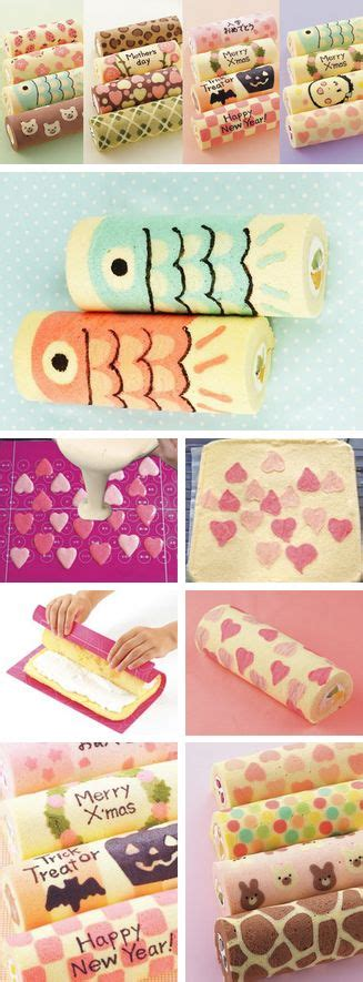 decoupage cake tutorial decorated swiss roll tutorials http thecakebar tumblr