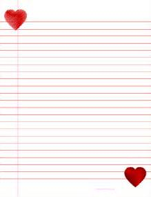 Heart Writing Paper Valentines Day Heart Writing Paper Quotes